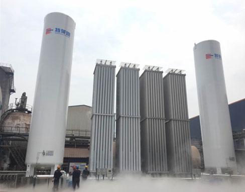 100m3 cryogenic storage tanks successfully put into operation